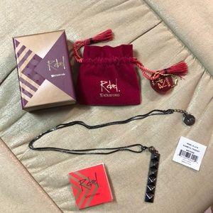 REBEL Ella B by Waterford gunmetal pendant & chain